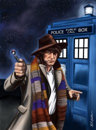 The Fourth Doctor, Tom Baker. Digitally painted in Sketchbook Pro.